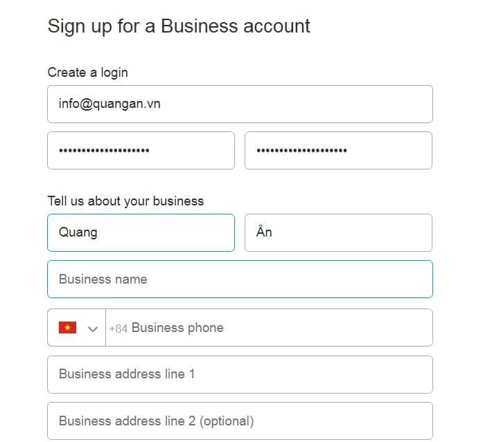 Cách điền surname và given name
