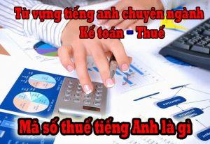 Mã số thuế tiếng Anh